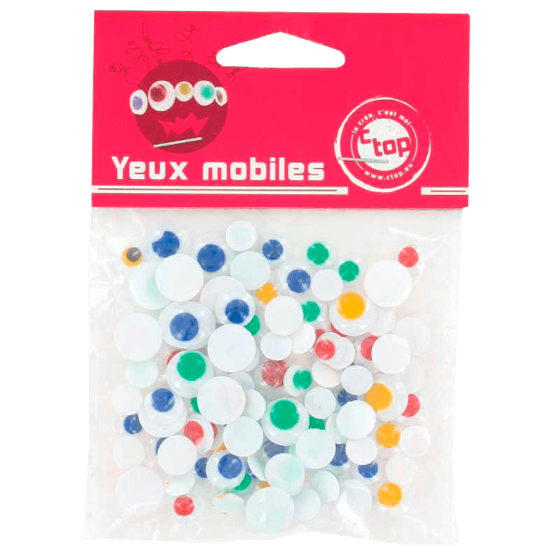 Assortiment d'yeux mobiles - Multicolore