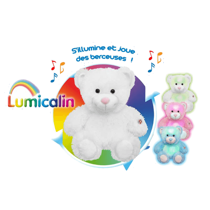 Peluche Veilleuse 30 Cm Lumicalin Ourson