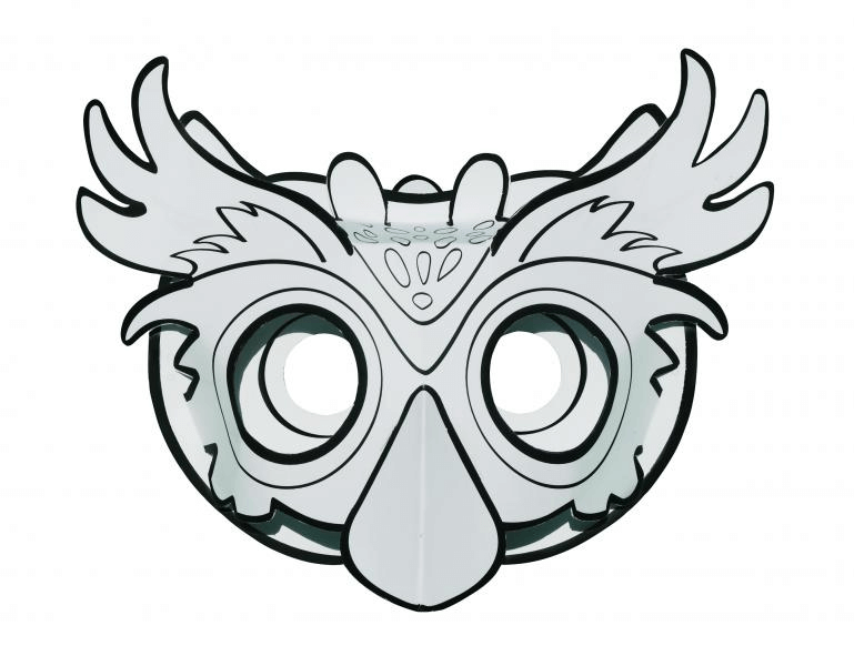 Masque 3d Hibou A Colorier Et A Monter Picwictoys