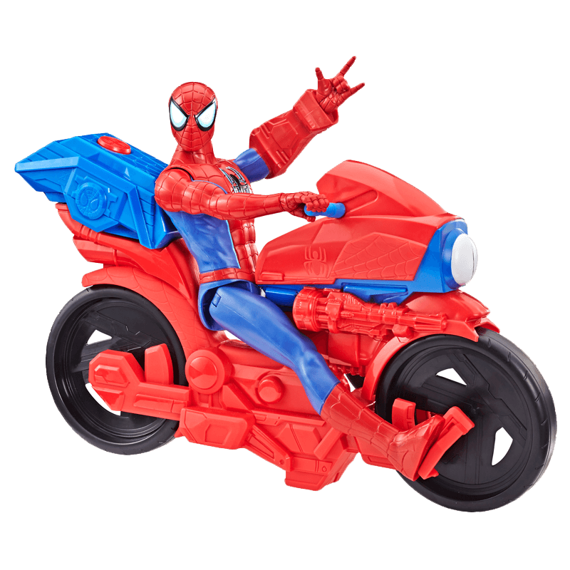 Figurine Et Véhicule Spider Man Far From Home Spider Man Et Sa Moto