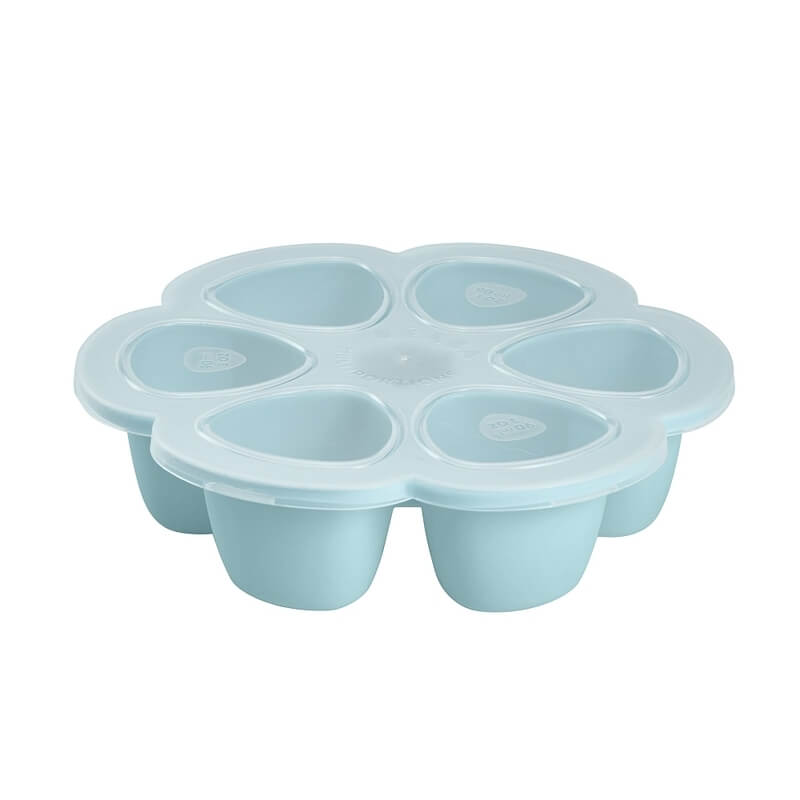 Beaba - Pots Multiportions Silicone 6 x 90 ml - Bl