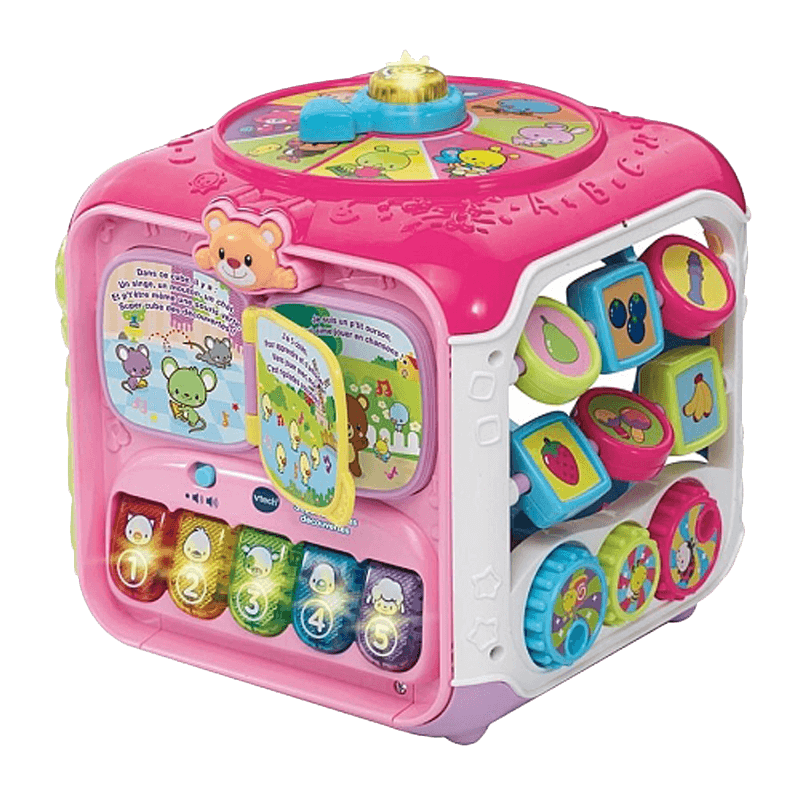 Vtech Baby Super Cubes Des Decouvertes Rose