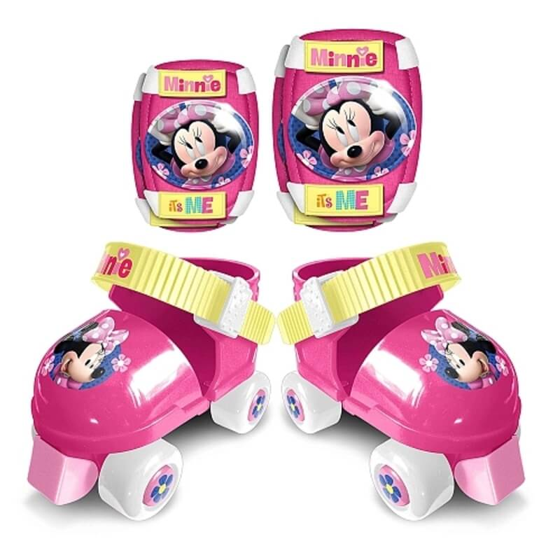 Stamp - Patins À Roulettes + Protections - Minnie - Taille 23/27