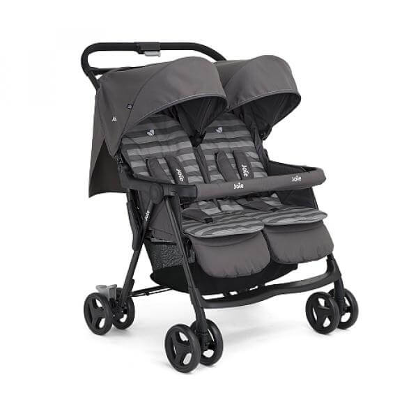 Poussette Double - Aire Twin - Dark Pewter