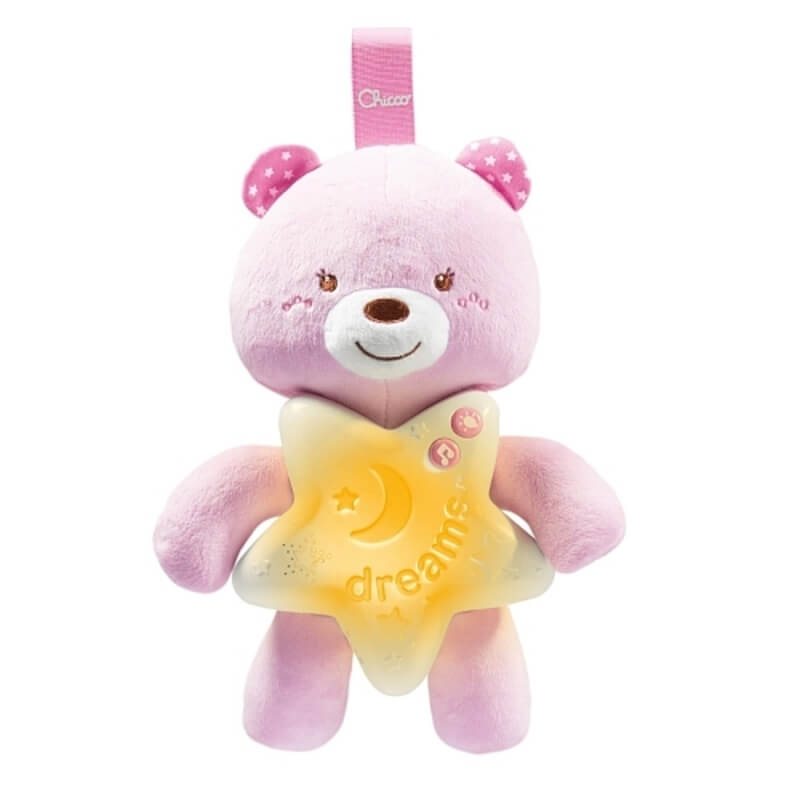 Chicco - Veilleuse Petit Ourson Rose