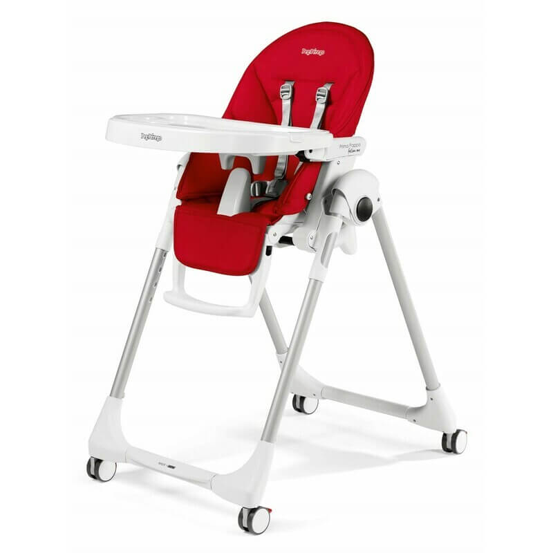 Chaise haute Prima Pappa Follow Me - Rouge Fragola