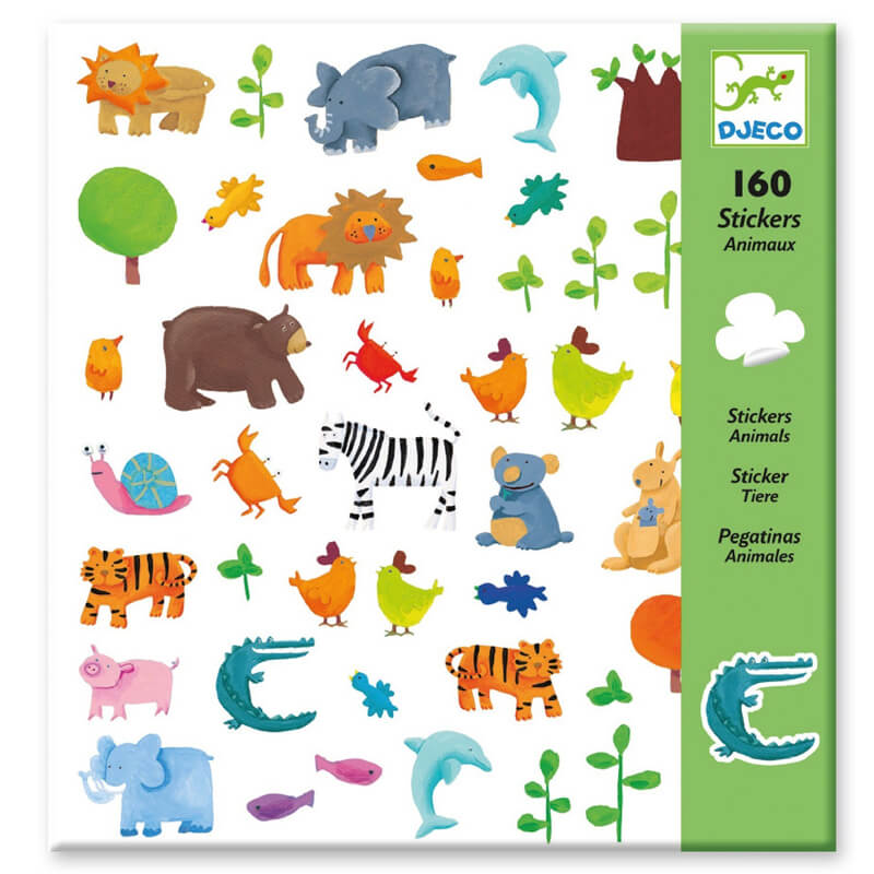 Djeco - 160 stickers Animaux